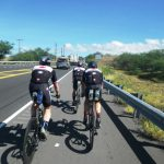 Canadian Armed Forces athletes practice the bike route for the Ironman World Championships, 2018