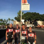 Canadian Armed Forces athletes before a swim practice at the Ironman World Championships, 2018