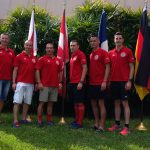 The Canadian Armed Forces team at the military division reception at the Ironman World Championships, 2018.