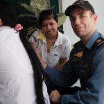 A member of HMCS Calgary's crew during the ship's visit in Da Nang, Vietnam