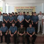 The crews of HMCS Calgary and NRU Asterix during their visit in Da Nang, Vietnam